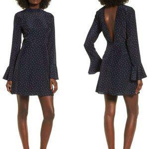 NEW J.O.A. High Neck Fit & Flare Dress Mock Neck